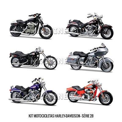 Kit Motocicletas Harley-Davidson - Série 28 - 6 unidades