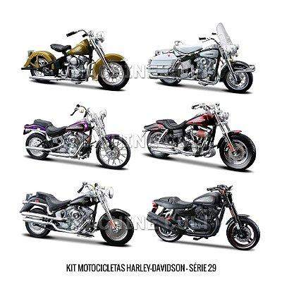 Kit Motocicletas Harley-Davidson - Série 29 - 6 unidades
