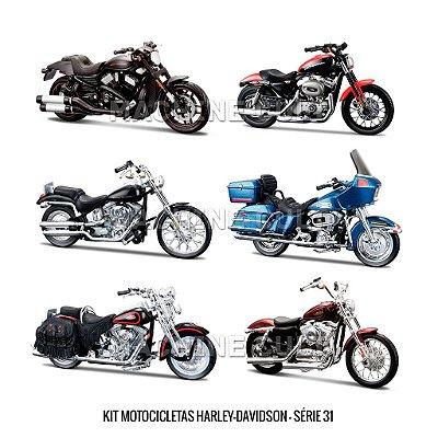 Kit Motocicletas Harley-Davidson - Série 31 - 6 unidades