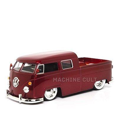 Miniatura Perua Kombi Pickup VW - Vermelho - Jada 1:24