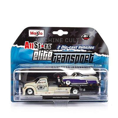 Elite Transport - Police Flatbed + 1950 Mercury - Maisto 1:64