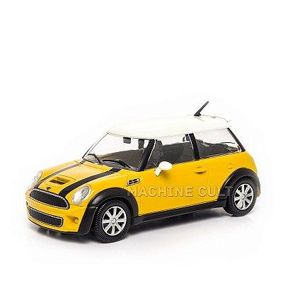 Mini Cooper S Amarelo - Burago 1:24