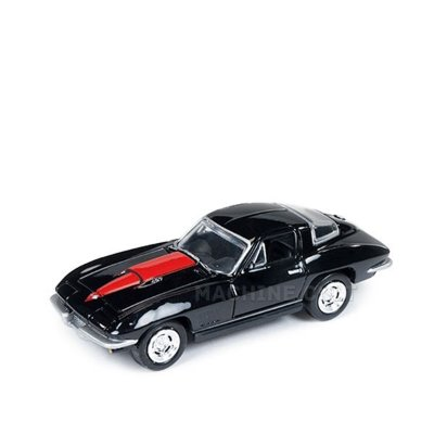 1967 Chevy Corvette 427 Preto - Auto World 1:64