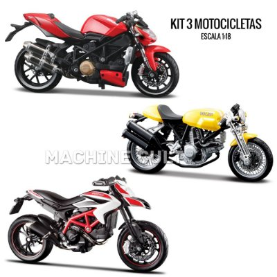 Kit de Miniaturas Ducati - Maisto 1:18 - Box 3