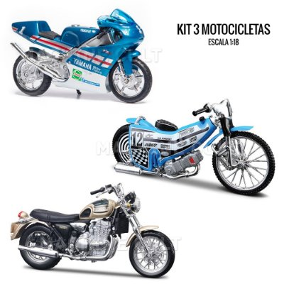 Kit de Miniaturas Motos - Box 4