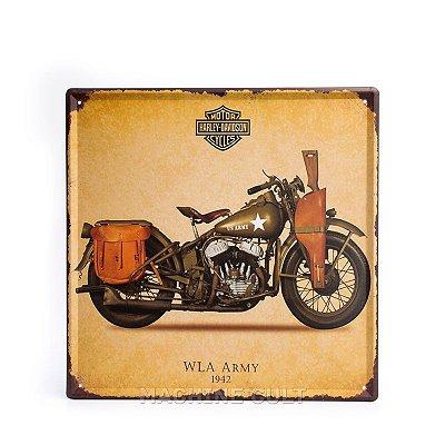Placa Harley-Davidson - Moto Militar