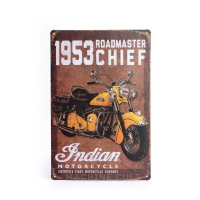 Placa Indian Motorcycle 1953