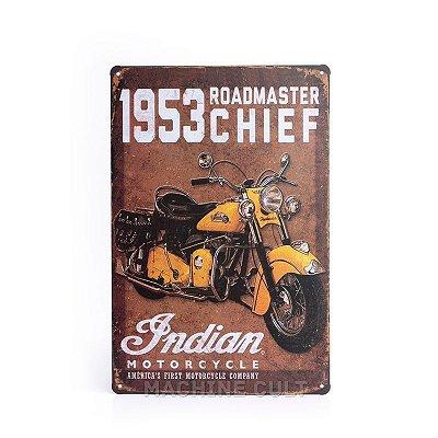 Placa Indian Motorcycle 1953