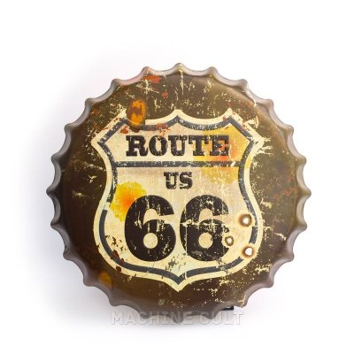 Placa Rota 66 - Alto Relevo