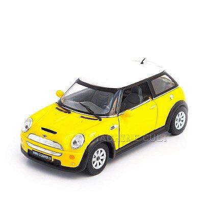 Miniatura Mini Cooper S Amarelo - 1:28