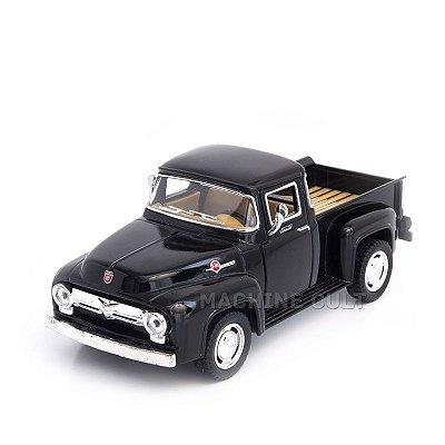 Miniatura Ford Pickup F100 1956 Preta - 1:38