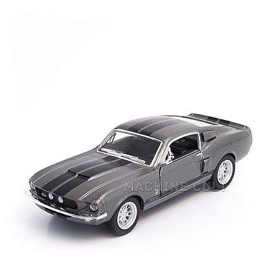 Miniatura Shelby GT-500 1967 Cinza - 1:38
