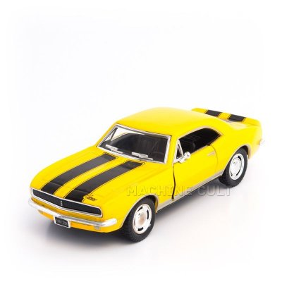 Miniatura Chevrolet Camaro 1967 Z/28 Amarelo - 1:37