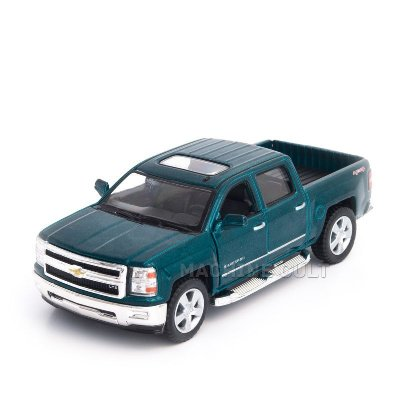 Miniatura Chevrolet Silverado 2014 Verde - 1:46