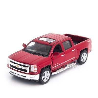 Miniatura Chevrolet Silverado 2014 Vermelho - 1:46