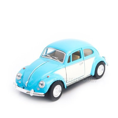 Miniatura Fusca 1967 - Saia e Blusa - Branco e Azul - 1:32