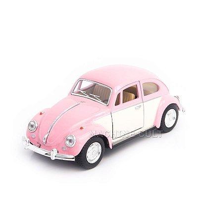 Miniatura Fusca 1967 - Saia e Blusa - Branco e Rosa - 1:32