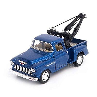 Miniatura Guincho Chevy Stepside Pickup 1955 Azul - 1:32