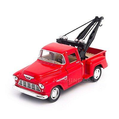 Miniatura Guincho Chevy Stepside Pickup 1955 Vermelho - 1:32