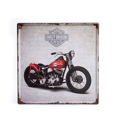 Placa Decorativa em Metal - Harley-Davidson