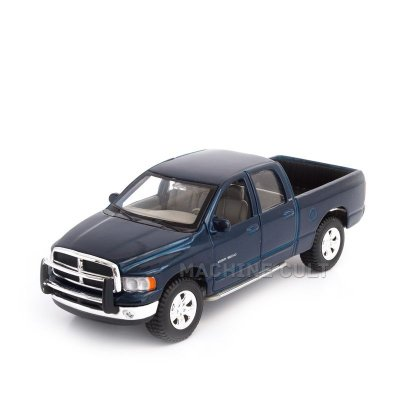 Miniatura 2002 Dodge Ram Quad Cab Azul - Maisto 1:27