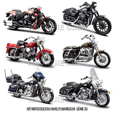 Kit Motocicletas Harley-Davidson - Série 33 - 6 unidades