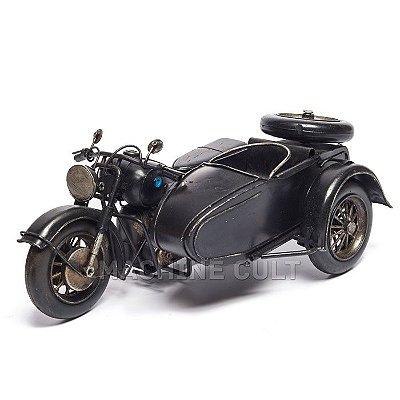 Miniatura Moto com Sidecar