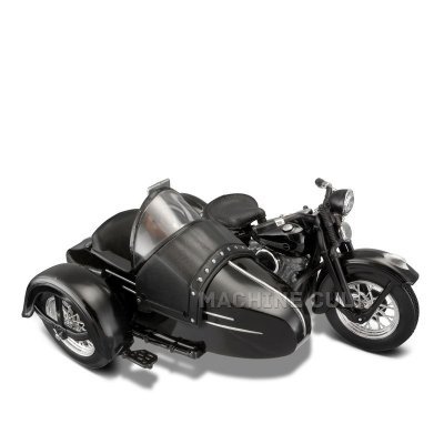 Miniatura Sidecar Harley-Davidson 1948 FL - Maisto 1:18