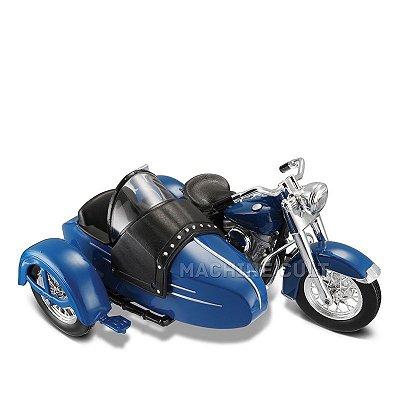 Miniatura Sidecar Harley-Davidson 1952 FL HYDRA GLIDE - Maisto 1:18