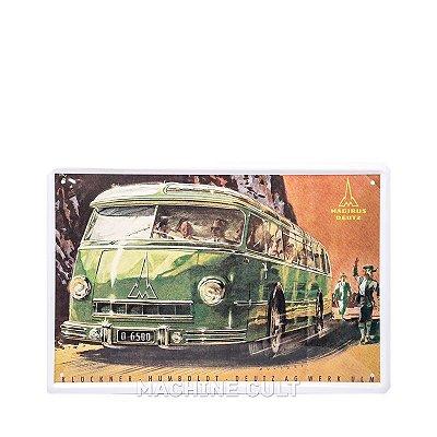 Placa Vintage Ônibus