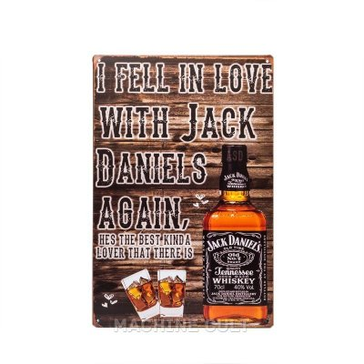 Placa Bebida Jack Daniel's