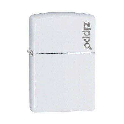 Isqueiro Zippo 214ZL Classic Branco com Logo