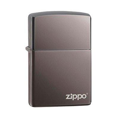 Isqueiro Zippo 150ZL Classic Black Ice com Logo