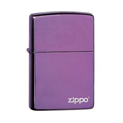 Isqueiro Zippo 24747ZL Classic Roxo Abyss com Logo