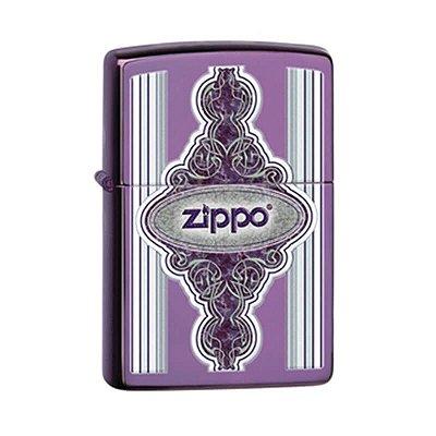 Isqueiro Zippo 28866 Classic Roxo Abyss Intrincado