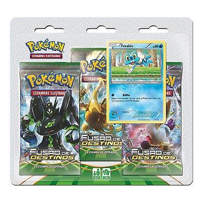 Pokémon TCG Triple Pack Froakie - XY 10 Fusão de Destinos