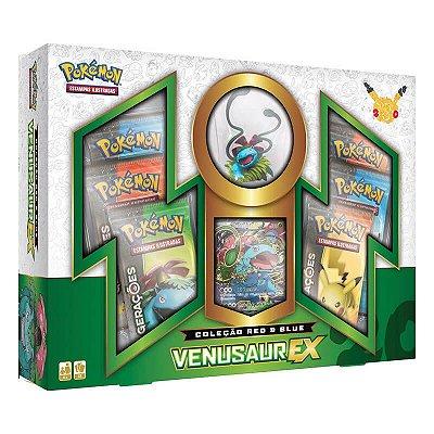 Pokémon TCG Box Red & Blue Venusaur EX - Gerações