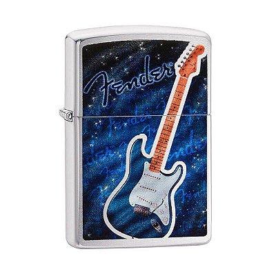 Isqueiro Zippo 29128 Classic Fender Azul Escovado