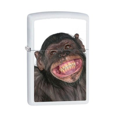 Isqueiro Zippo 28661 Classic Monkey Grin Branco