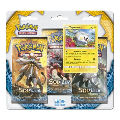 Pokémon TCG Triple Pack Togedemaru - Sol e Lua