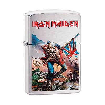 Isqueiro Zippo 29432 Classic Iron Maiden Escovado