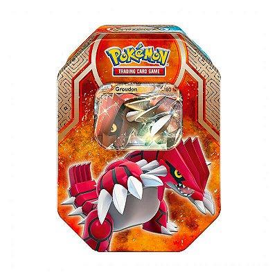 Pokémon TCG Lata Colecionável Lendas de Hoenn - Groudon EX