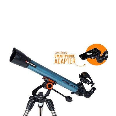 Telescópio Refrator Inspire 70AZ (com Smartphone Adapter) Celestron