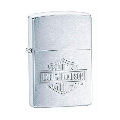 Isqueiro Zippo 200HD.H199 Harley-Davidson® Logo Escovado