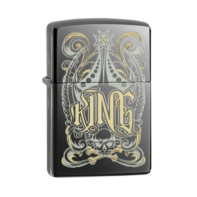 Isqueiro Zippo 28798 Classic King Royal Black Ice