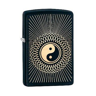 Isqueiro Zippo 29423 Classic Yin Yang Artístico 2 Preto