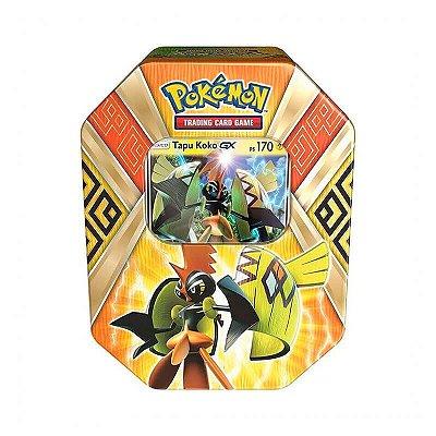 Pokémon TCG: Lata Colecionável Guardiões das Ilhas - Tapu Koko GX