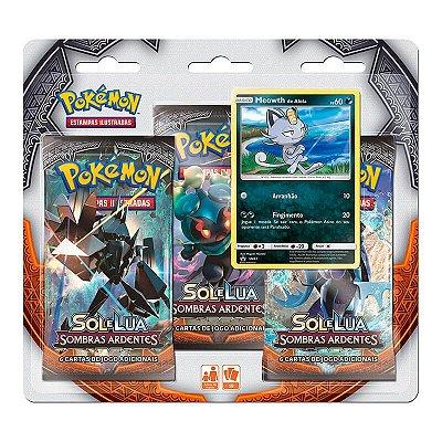 Pokémon TCG: Triple Pack SM3 Sombras Ardentes - Meowth de Alola