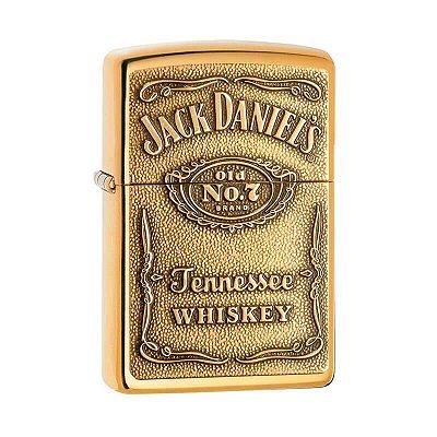Isqueiro Zippo 254BJD.428 Classic Jack Daniel's Bronze Sólido Polido
