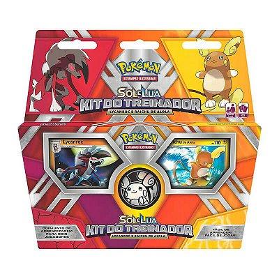 Pokémon TCG: Deck Kit do Treinador - Lycanroc e Raichu de Alola